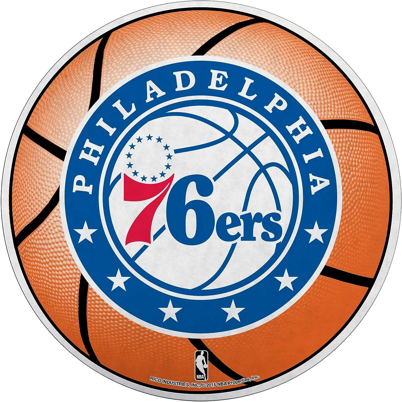 Rico Industries Dcp90002 Nba Philadelphia 76ers Die Cut Pennant One Size Blue Orange Sport Freizeit
