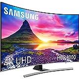 """Samsung 55NU8505 - Smart TV de 55"""" 4K UHD HDR10+ (Pantalla Slim Curvo, Quad-Core, 3 HDMI, 2 USB), Color Plata (Eclipse Silver)"""