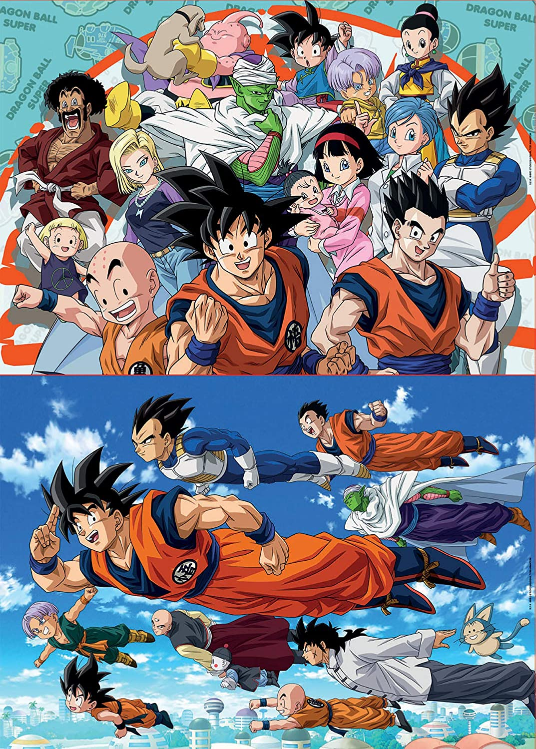Educa Borrás-2X100 Dragon Ball Puzzle, Color Variado (18214)
