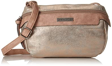 Damen Ava Crossbody Bag Umhängetasche, Weiß (Off White Comb), 9,5x16x24,5 cm Tamaris
