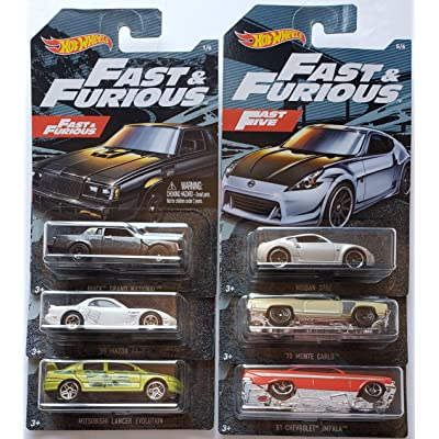 Hot Wheels 2020 Walmart Exclusive Fast & Furious Series Complete Set of 6: Toys & Games