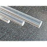 Barre ronde acrylique, Ø 10 mm longeur 1000 mm transparente (plexiglass)