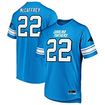Majestic Christian McCaffery Carolina Panthers Blue Big   Tall Hashmark  Jersey T-Shirt 2XL Tall 88a5194f7