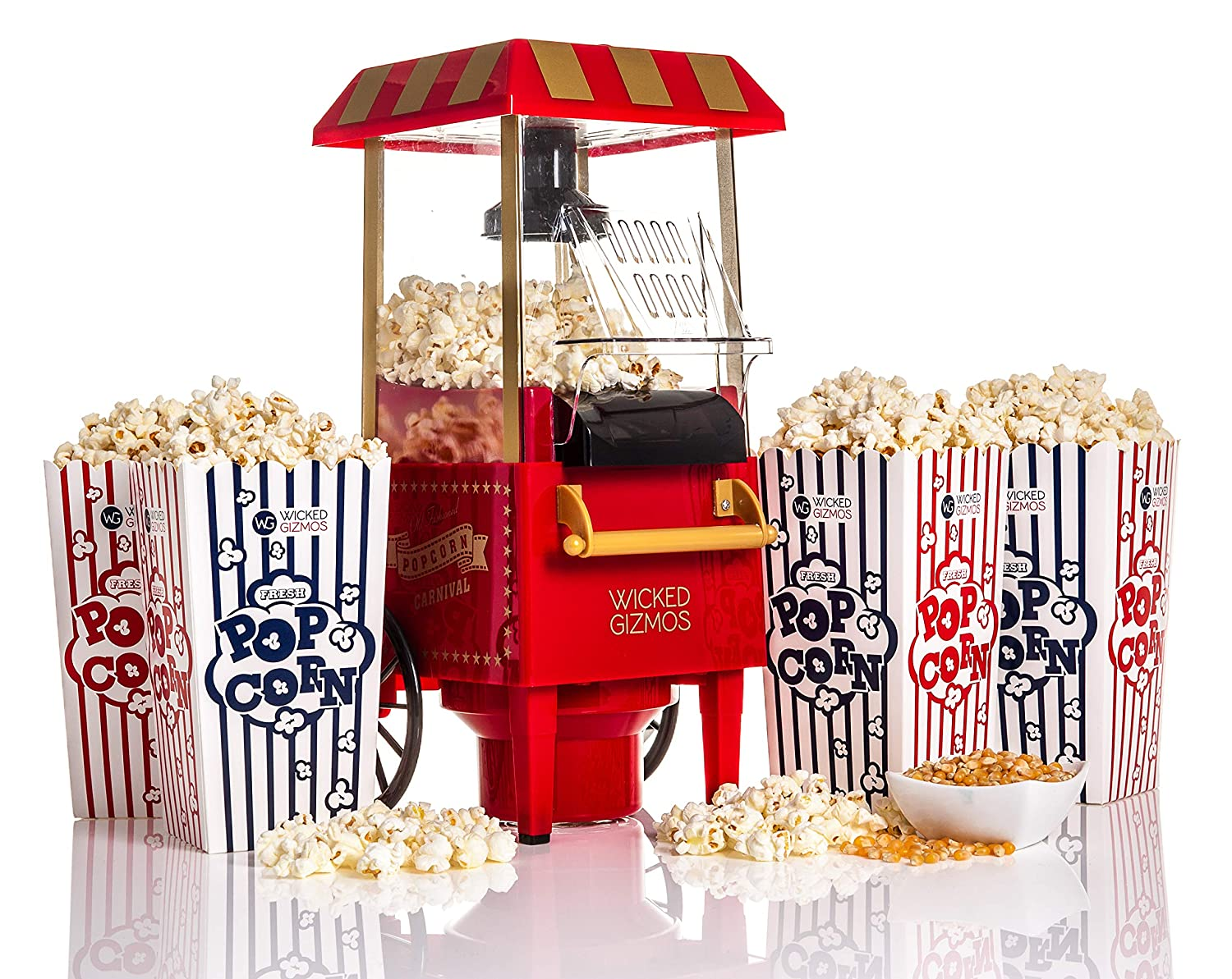 Retro Carnival Fun Fair Style Electric Hot Air Popcorn Maker Machine Popper 1930s Style by Express trading: Amazon.es