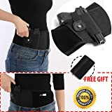 JesitaGear Belly Band Holster for Concealed Carry, IWB Holster, Adjustable Neoprene Waist Hand Gun Holster for Men and Women Fits Ruger LCP, Glock 17,19, 42, 43, Sig Sauer, M&P Shield