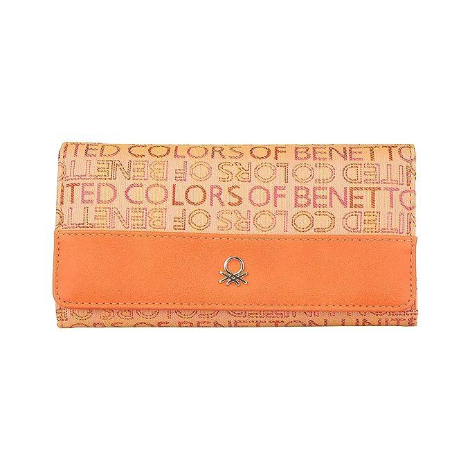 BENETTON cartera mujer 12A73745 arancione - mujer - TU