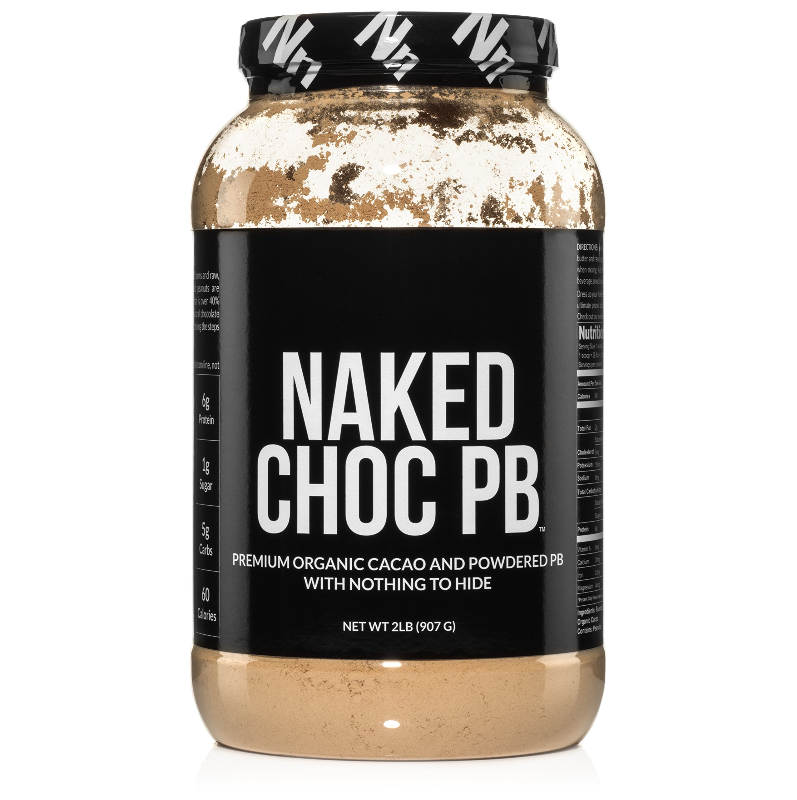 NAKED CHOC PB - Premium Organic Cacao and Powdered PB - 2lb Bulk