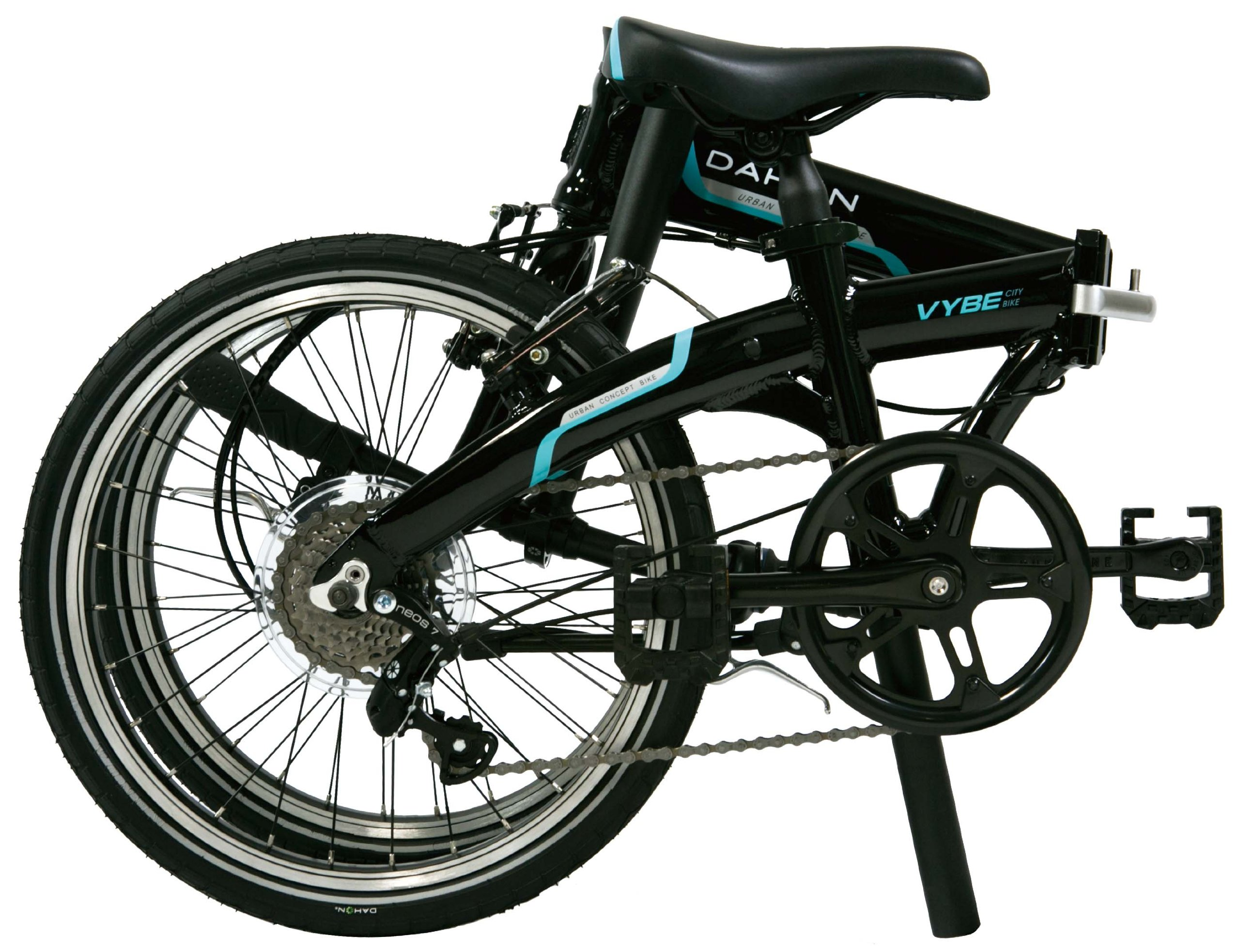 Dahon Vybe D7 Folding Bike Obsidian with Fenders by Dahon (Image #2)