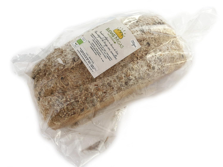 Pan ecológico artesanal con masa madre en horno de leña. Sabor tradicional exquisito. Envío GRATIS 24h. (Pan integral de trigo con semillas 750gr ...