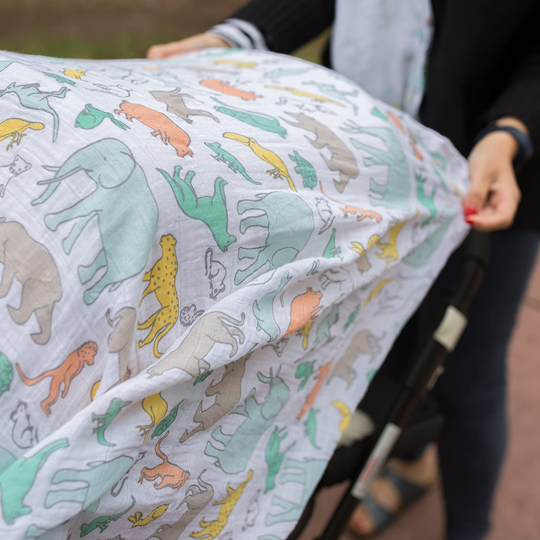 Multi Weegoamigo Baby Muslin Swaddle Blanket Great /& Small