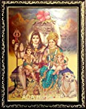ADA Handicraft Lord Shiva & Family Photo Frame for Wall and Pooja/Poster for Pooja/Religious Framed Painting for Worship (24 X 33) cm