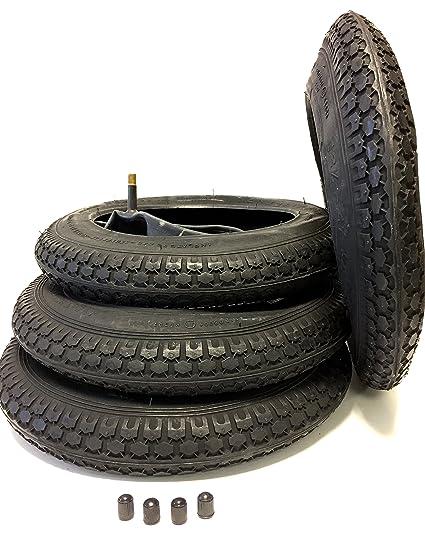 4 x Set Neumáticos y cámaras de aire 12 1/2 x 2 1/4 (12 pulgadas) 62 – 203 para cochecito, Buggy, carretillas de carro, Roller, triciclo, colgante de ...