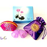 Luna Cup Menstrual Cup, 1 Small & 1 Large Period Cup With 1 Pouch 1 Zipper Case(S & L Gift Box Set)