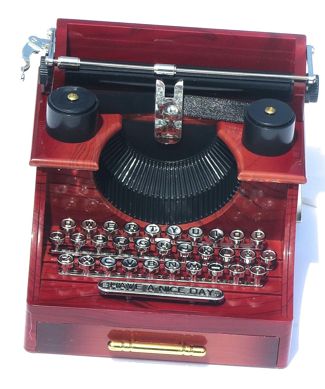 Musical cajas y figuras, máquina de escribir música tiempo, que tenga un buen día.: Amazon.es: Hogar