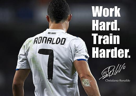 Cristiano Ronaldo de motivación de 36 - - firmado (copia) A3 ...