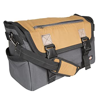 Amazon.com: Dickies Work Gear 57034 Grey/Tan 16-Inch Messenger Bag ...