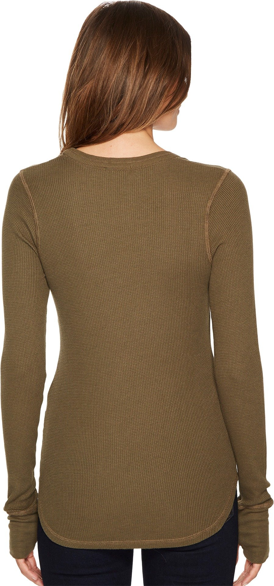 Splendid Women's U-Neck Thermal, Olivine, XS