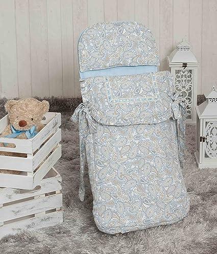 Babyline Caramelo - Saco de 3 usos para capazo y silla, color azul
