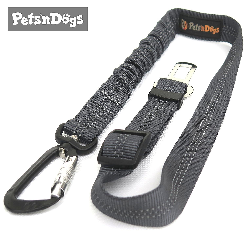 Pets'nDogs Hunde-Anschnall-Gurt inkl. extra gesichertem Profi-System-Karabiner Image
