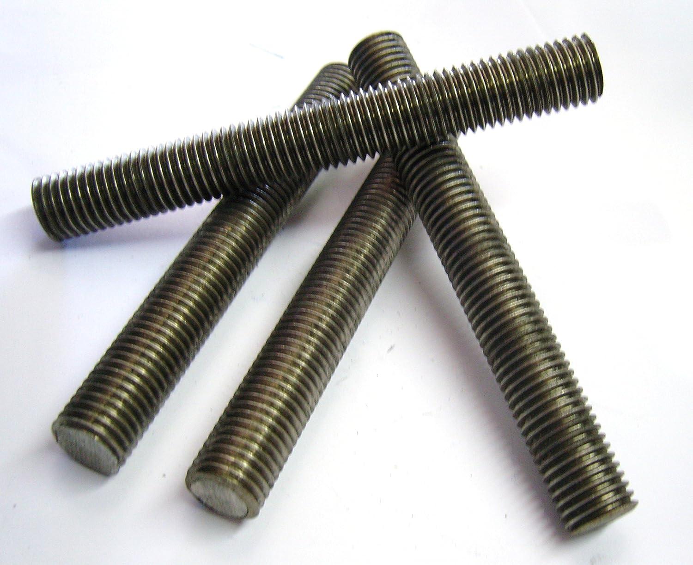 """10 pk. 1//2/""""-13 x 1-3//4/"""" Plain 304 Stainless Steel Fully Threaded Studs"""