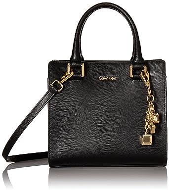 fd47d3d7d Calvin Klein womens Calvin Klein Logan Mercury Leather Crossbody,  black/gold, One Size