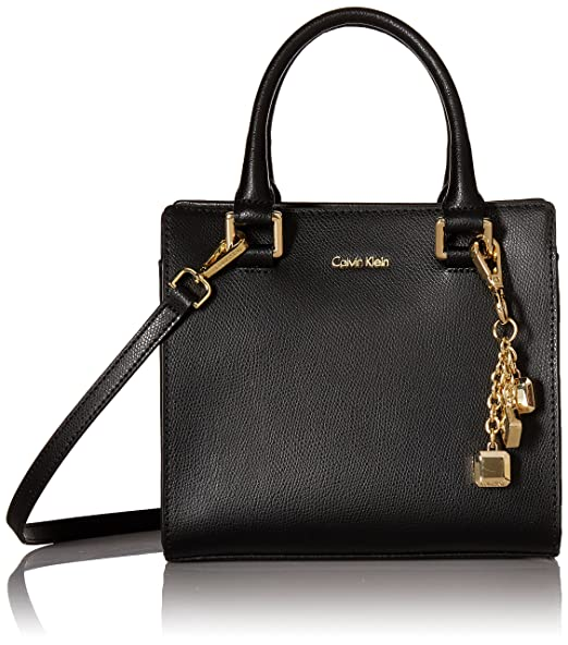 best service recognized brands latest discount Calvin Klein Logan Mercury Leather Crossbody