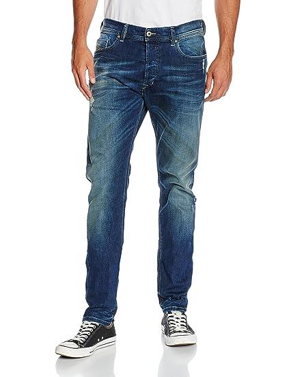 2c89bc30 Diesel Men's Tepphar Pantaloni Jeans, Blue-Blau (01), 30W / 32L: Amazon.co. uk: Clothing