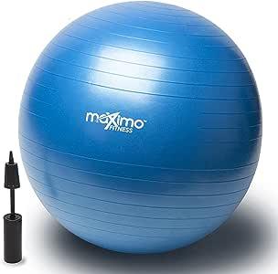 Maximo Fitness Pelota de Ejercicio - Bola Suiza con Bomba de Inflado 55cm.: Amazon.es: Deportes y aire libre
