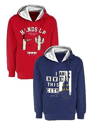 9239203c7936 Maniac Kids Fullsleeve Printed Hood Sweatshirt Combo Pack of 2 ...