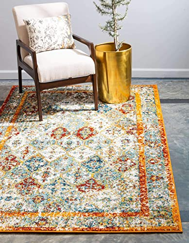 Unique Loom Rosso Collection Vintage Traditional Distressed Beige Area Rug 9' 0 x 12' 0
