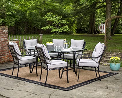 86f15e8b0a7 Amazon.com  Hanover ODLA-7PC-CU-GL Lavallette 7-Piece Outdoor Dining ...