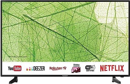 Sharp 40aj2e 102 Cm 40 Zoll 4k Ultra Hd Smart Led Tv Harman Kardon Soundsystem Triple Tuner Heimkino Tv Video