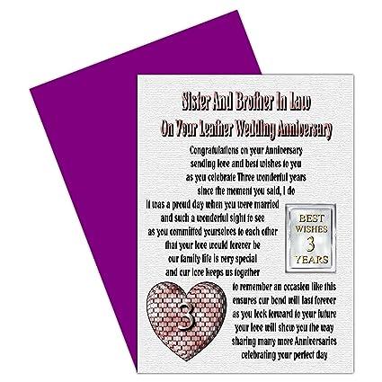 Rosie Online - Tarjeta de tercer aniversario de boda para ...