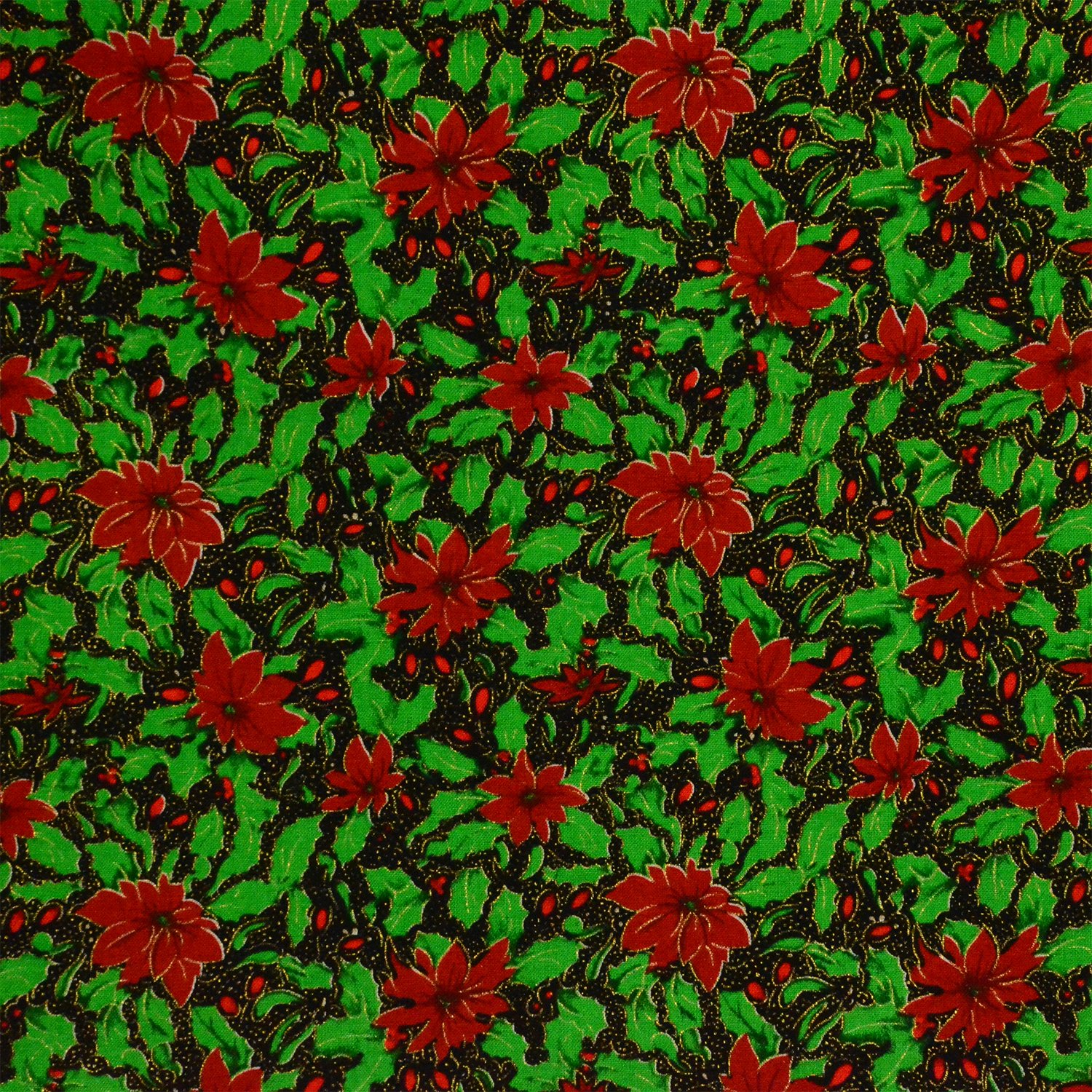 Christmas Gold Stars 100% Cotton Quilting Craft Fabric – Priced by Quarter Metre Fabric Freedom