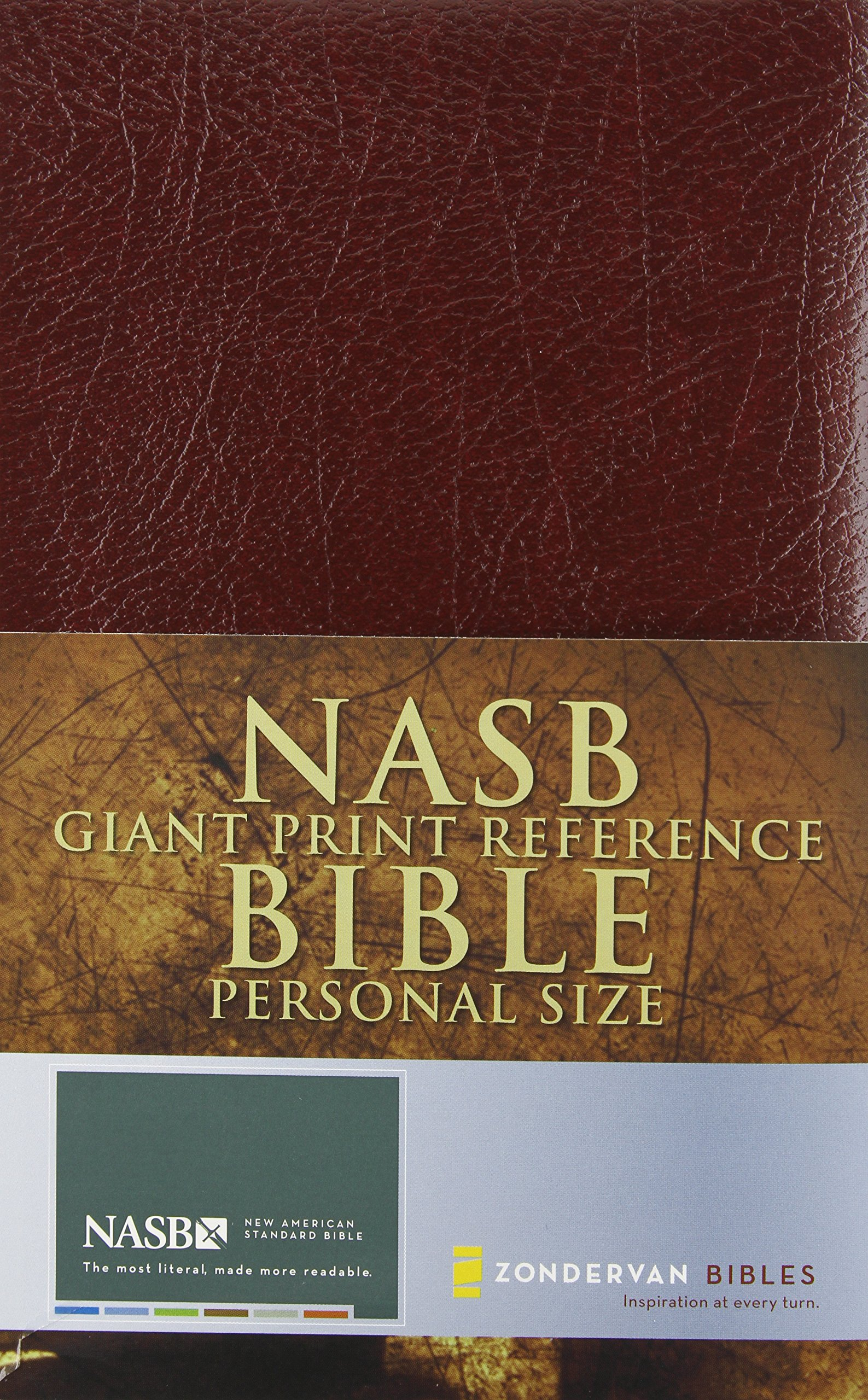 Nasb Giant Print Reference Bible Personal Size Zondervan 9780310916604 Amazon Com Books