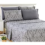 Lux Decor Collection Bed Sheet Set - Microfiber 1800 Bedding - Wrinkle, Stain and Fade Resistant - Hypoallergenic - deep…