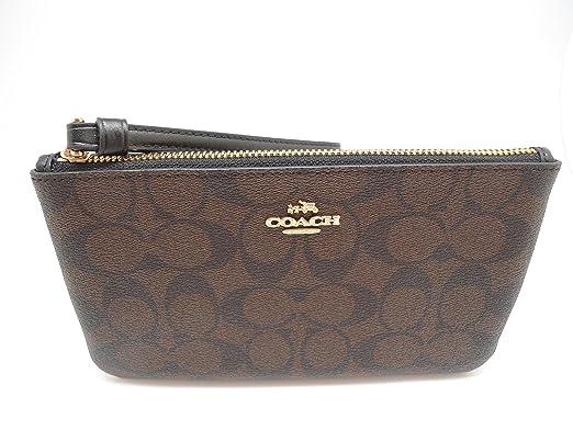 86ac58097579 Coach Signature PVC Large Wristlet Brown Black 58695  Handbags ...