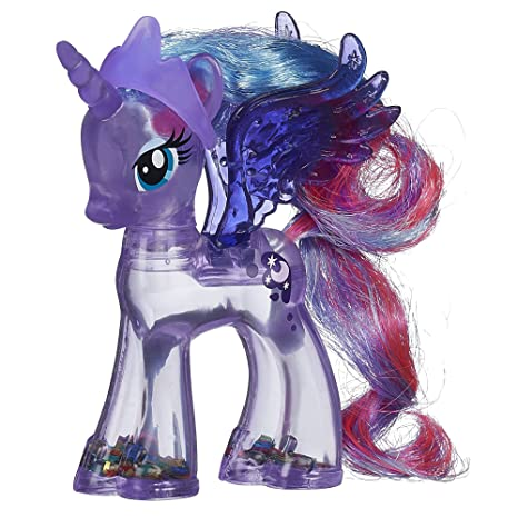 amazon com my little pony rainbow shimmer princess luna pony figure
