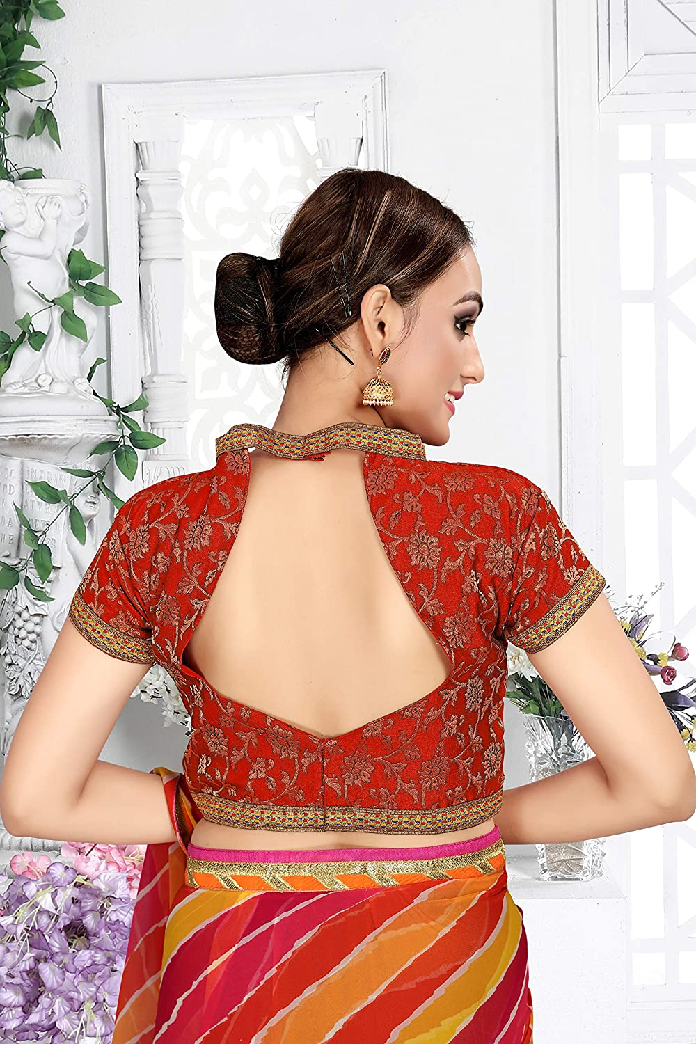 Elina fashion Womens Party Wear Readymade Bollywood Designer Indian Style Padded Blouse for Saree Crop Top Choli