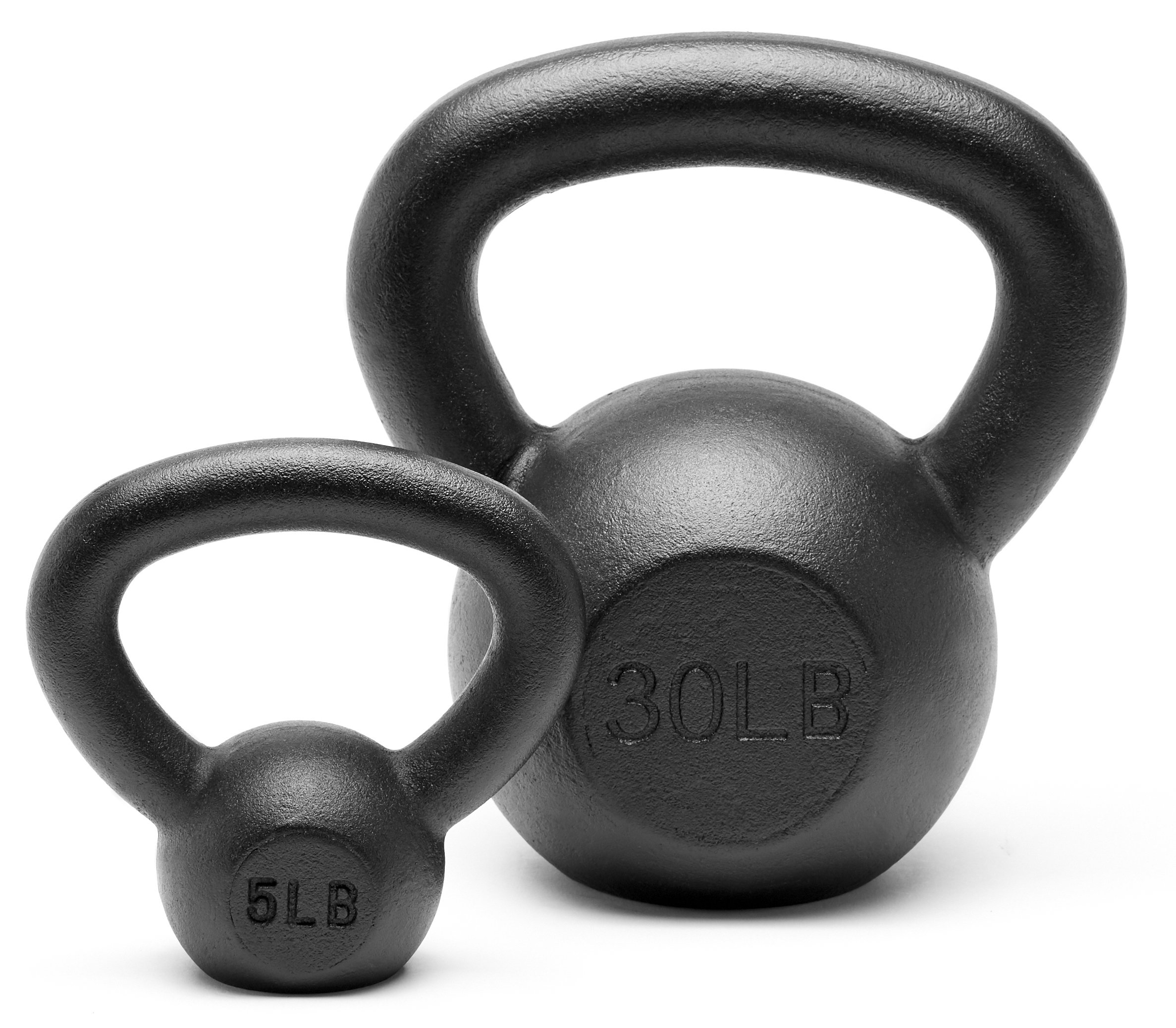 Unipack Powder Coated Solid Cast Iron Kettlebell Weights Set- (5+30 lbs)