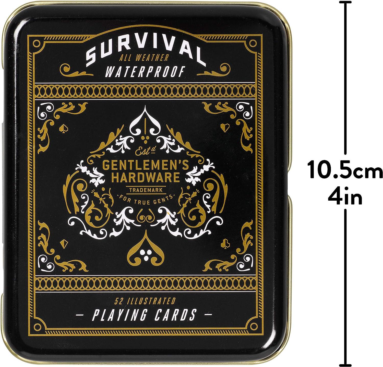Gentlemen/'s Hardware Campfire Survival Travel Playing Cards Set in Metal Tin