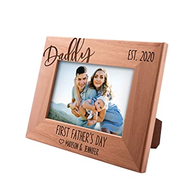 First Fathers Day Personalized Picture Frame for Daddy Grandpa