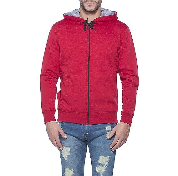 buy popular bcf24 7564d Alan Jones Solid Full Hooded Sweatshirt Maroon