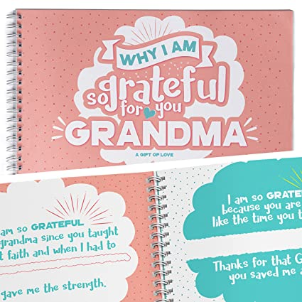 amazon com great gift for grandma thank you gifts book fill in