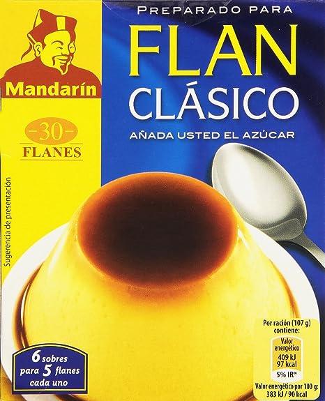 Mandarín - Preparado para flan clásico - Añada usted el azúcar - 5 sobres