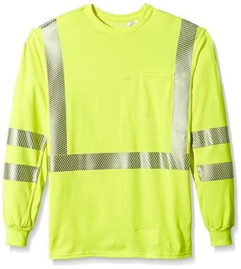4e2fda1c7b81 Amazon.com  Bulwark Men s Hi-Visibility Lightweight T-Shirt  Clothing