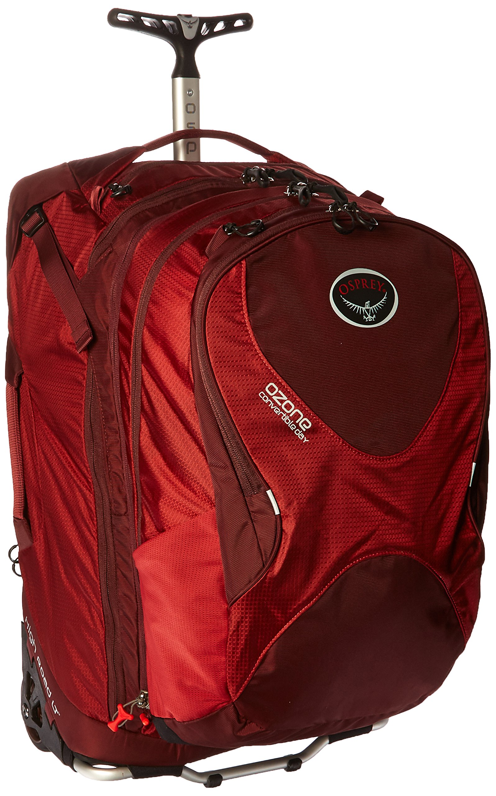 Osprey Ozone Convertible 22''/50L Wheeled Luggage, Hoodoo Red