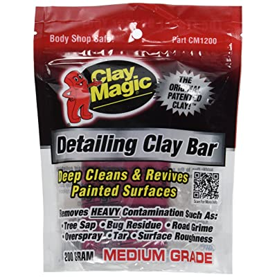 Clay Magic Red Medium Grade Detailing Clay Bar: Automotive