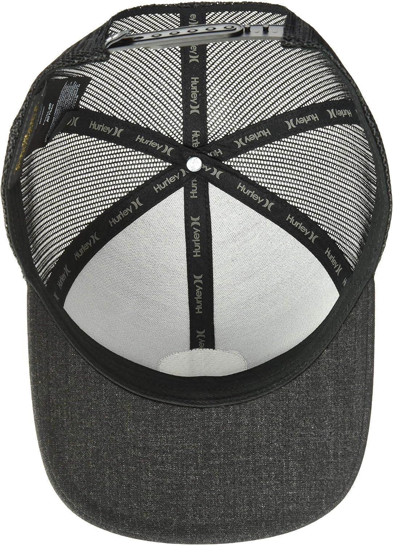 Hurley Mens Logo Patch Curved Bill Trucker Baseball Cap