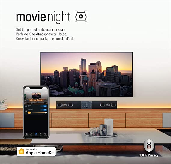 Eve Movie Night - Tira LED inteligente y enchufe inteligente con tecnología Apple HomeKit, sin necesidad de centralita: Amazon.es: Iluminación